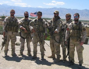 (L to R): Matthew Axelson, Daniel R. Healy, James Suh, Marcus Luttrell, Eric S. Patton, Michael P. Murphy